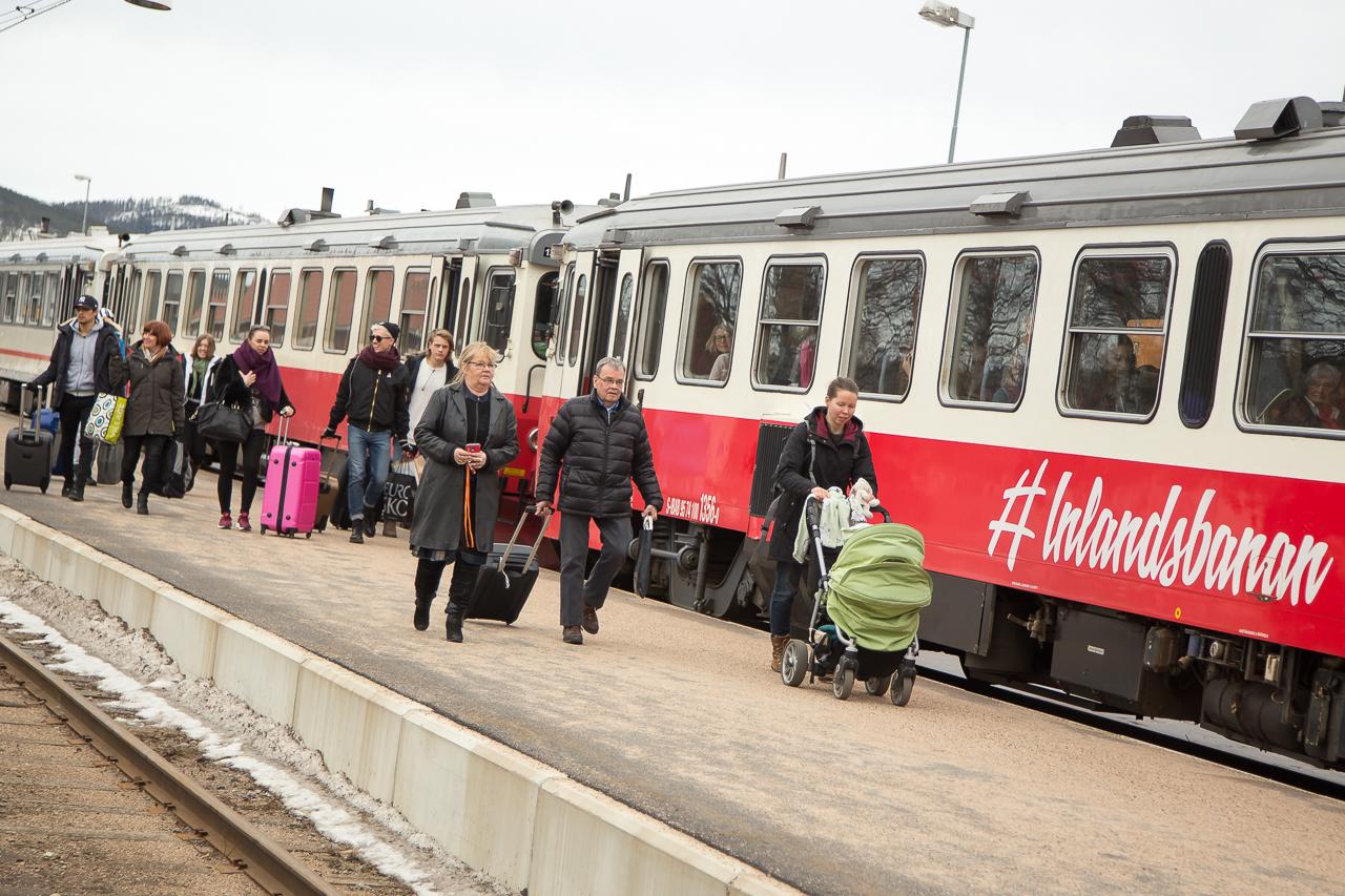 Ökat resande på Inlandsbanan