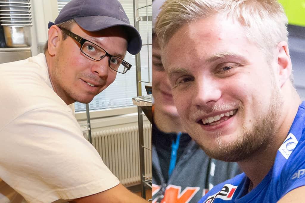 Pär-Anton Ångman får kommunens kulturpris och idrottspriset går till Ronny Dahl. Foto och montage: Morgan Grip