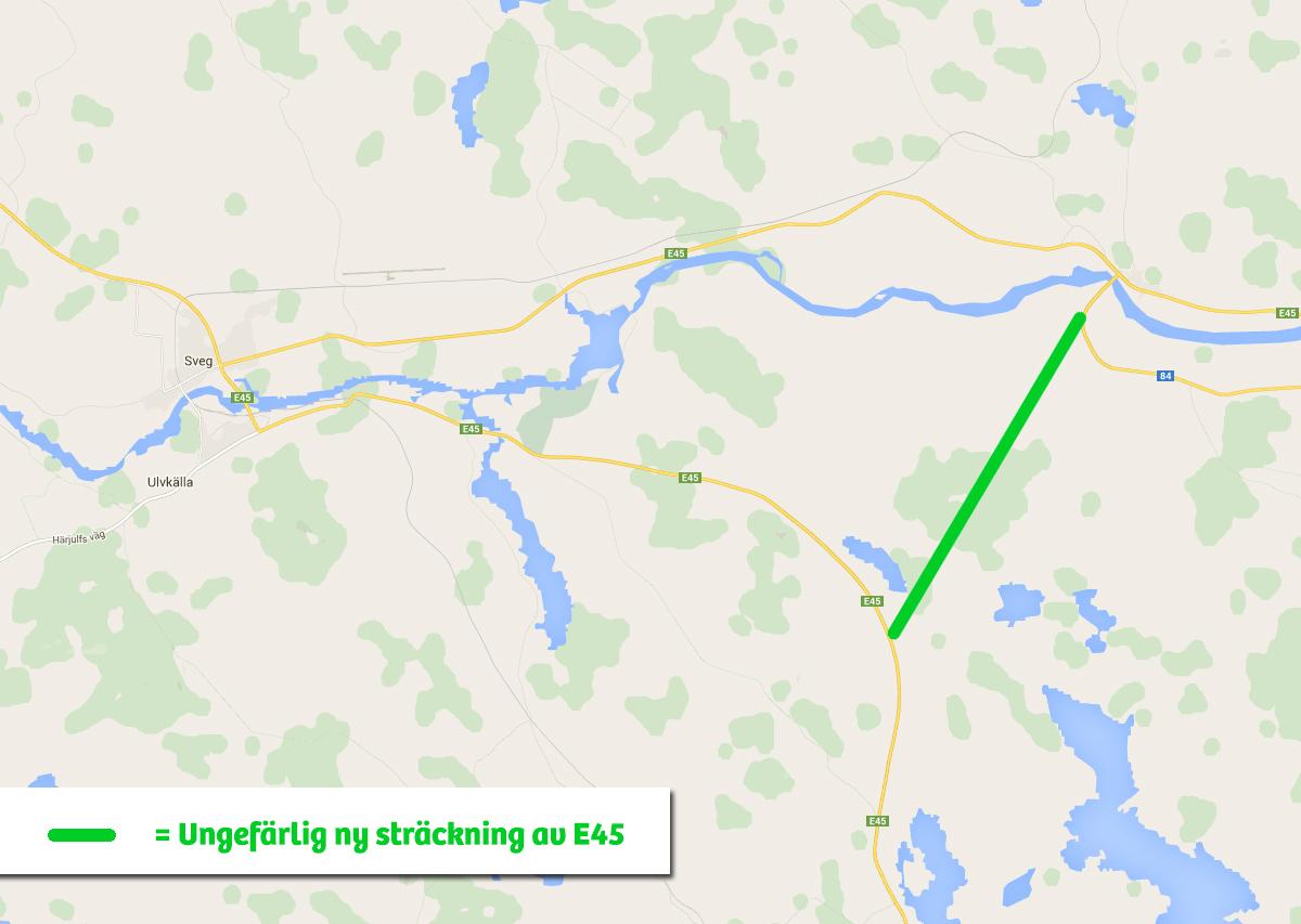 Byggstart 2018 för förbifart Sveg