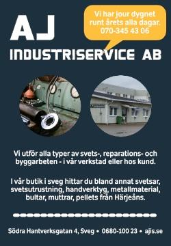 AJ Industriservice i sveg utför alla typer av svets-, reparations- och byggarbeten.