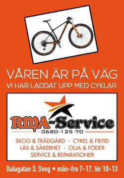 Våren är på väg. RMA Service i Sveg har laddat upp med cyklar.