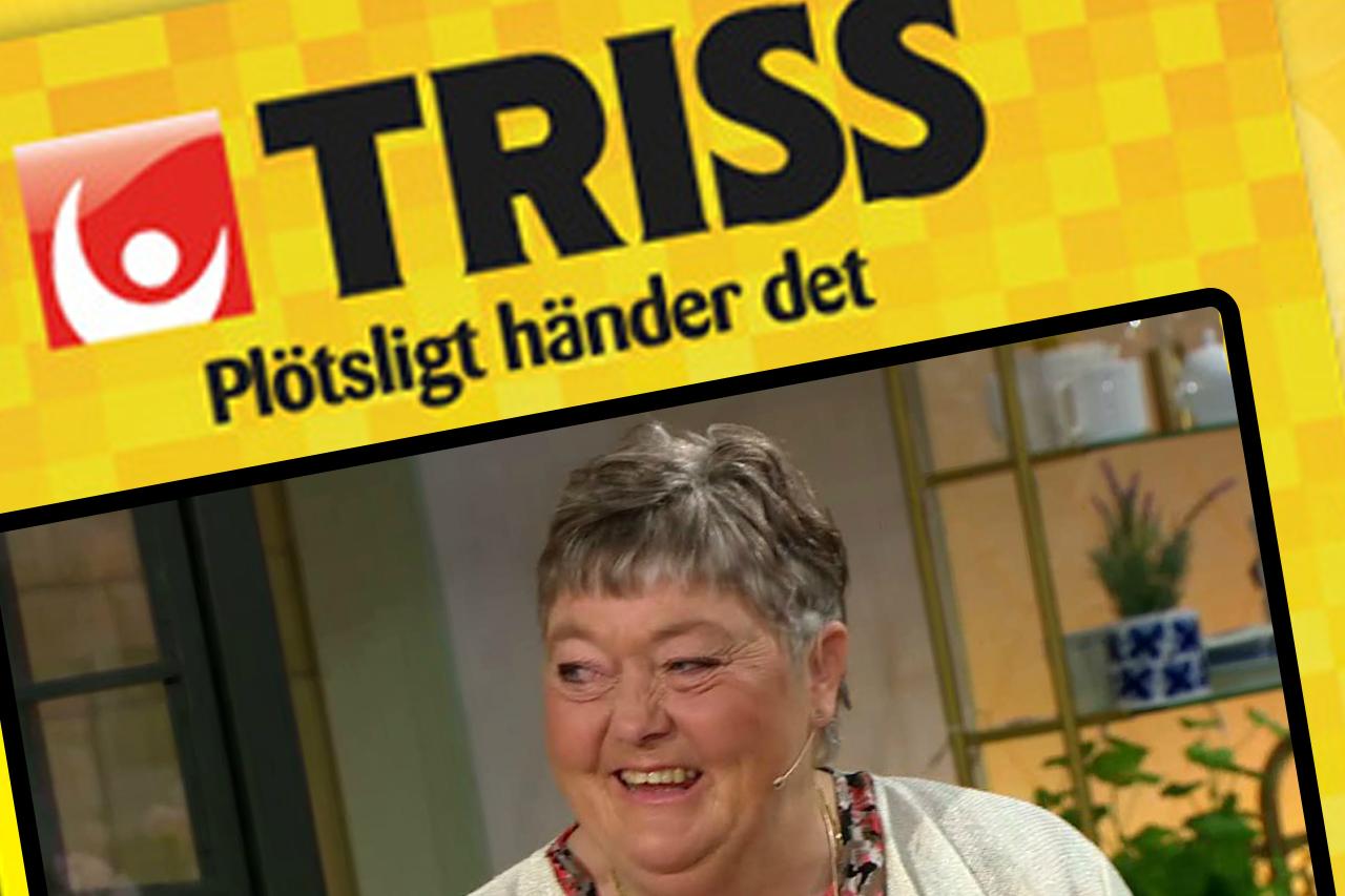 Sonia från Sveg skrapade fram 100 000 kronor på Triss i TV4:s direktsändning