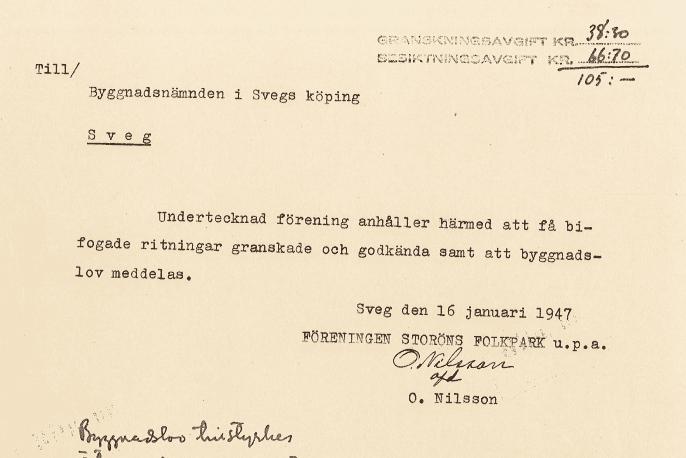 Storöns Folkpark 70 år! Historien startade vid en pastoratskyrkostämma den 15 maj 1946