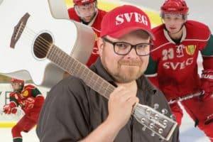 """""""Röda, gula, gröna SIK"""" Svegs IK hockey får ny kamplåt – hör den här på sveg.se"""